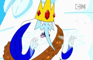 Ice King using his powers