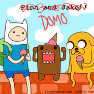 Adventure time and domo by chloefaith-d30hyap