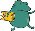 Frog carrying crown.png