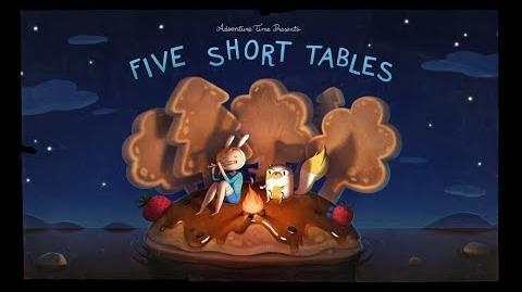 Adventure Time Title Card Painting Process - Five Short Tables