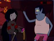 Hunsun Abadeer giving Marceline amulet