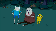S1e22 Finn and Jake with happy Old Man Henchman