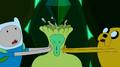 S4e26 finnandjakesqueezingEmeraldPrincess'head
