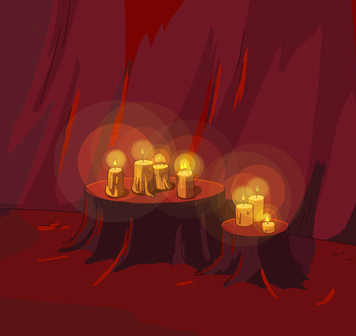 Flame Princess' scented candles