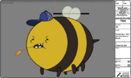 Modelsheet hillbillybee - withhatandstrawinmouth
