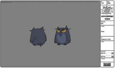 Modelsheet owls