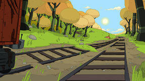 S4e15 Train Tracks