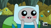 S1e25 Big-eyed Finn blushing