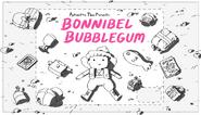 Bonnibel Bubblegum title card design by Hanna K. Nyström
