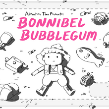 Bonnibel Bubblegum title card design by Hanna K. Nyström.png