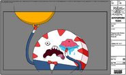 Modelsheet Peppermint Butler with Red Eye - Pose B