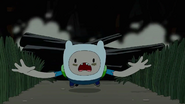 S4 E23 Finn almost getting assaulted by a wooden log