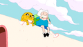 S6e3 Finn and Jake eating candy wall
