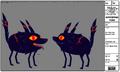 Modelsheet Fire Wolf Pup - Special Color 1