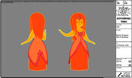 Modelsheet flameprincess - wetblushing