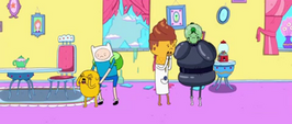S1e19 Finn and Jake revolted at green and bald PB