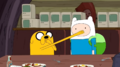 S5 e20 Finn and jake covering each other's mouths
