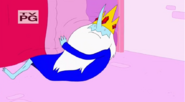 S5 e22 Ice King emerging from under PB's bed
