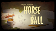 Horse and BallCardHD