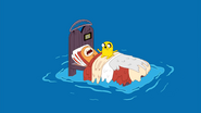 S1e16 Finn and Jake on bed in ocean