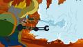 S5e2 Finn ice-blasting fire