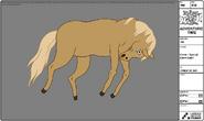 Modelsheet horse - specialdawncolor