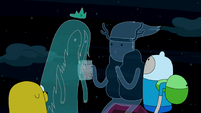S3e24 Finn and Jake with Ghost Princess and Clarence