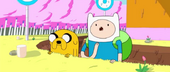 S1e19 Finn and Jake in moat