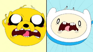 S4e2 Finn and Jake launching toward each other