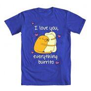 Love Everything Burrito RoyalBlue Shirt
