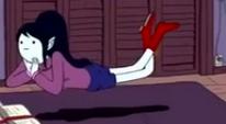 S3e21 Marceline floating above bed