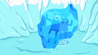 S1e3 Finn and Jake in ice