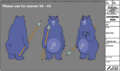 Spear Bear modelsheet