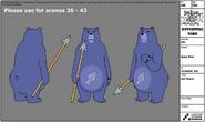 Spear Bear modelsheet
