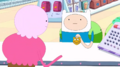 S5 e25 Finn and Jake talking to a cashier
