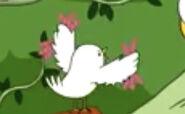 Bird Holding Earthworms