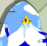 S2e25 ice king peace sign