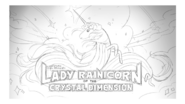 Lady Rainicorn of the Crystal Dimension title card design by Joy Ang and painted by Joy Ang