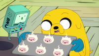 S6e28 BMO and Jake with fresh Finn cakes