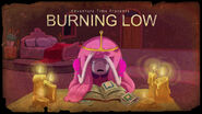 Burning Low title card