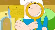 S5 e25 Finn examing a tag