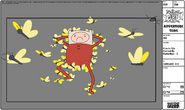 Modelsheet Finn in PJs Carried by Butterflies - C