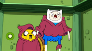 S1e11 Finn and Jake in awe wearing wizard robes