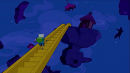 S6e1 Finn running up Jake-stairs 2