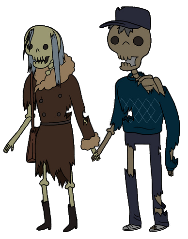 Boyfriend & Girlfriend Skeletons