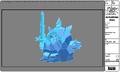 Modelsheet Ice King in Ice Armor