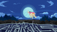 S2E22 The Limit - Finn and Jake riding the Ancient Psychic Tandem War Elephant backwards into the moon-2