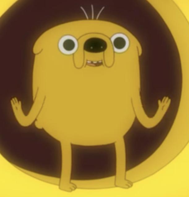 Adventure Time Socks Jake Crew Men/'s Yellow