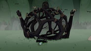 S4e23 Finn by wooden structure