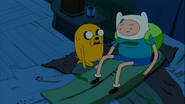 S6e1 Finn and Jake sitting in bed